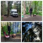 erster Campground auf Vancouver Island