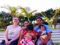 Swapna, Abiah, Ardar und Aidan