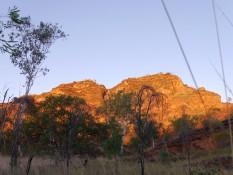Blick auf die Felsen (vom Van aus)