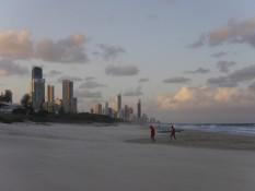 Gold Coast mit Sonnenuntergang