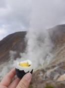schwarze Eier am Vulkan