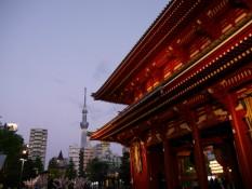 Asakusa Schrein und Skytree
