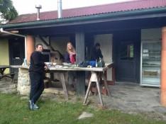 im community garden in takaka mit den anderen wwoofern