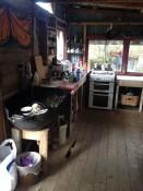 die kueche im workbus, community garden takaka