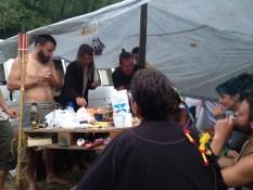 bei den franzosen in ihrem camp