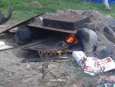 der selbstgebaute ofen :)