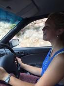 Schnappschuss beim Autofahren