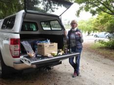 Picknick am Pick-up:Reste-Essen