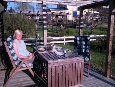 Essen auf unserer Terasse - Eating on the terrasse