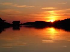 Sonnenuntergang vor Tjärnö - Sunset in front of Tjärnö