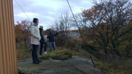 Dimitris showing Jonathan, Martina and me around the botanical gardens of Stockholm