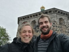 Showing Dimitris around in Gothenburg