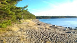The big beach of the island close by Tjärnö