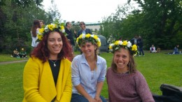 Midsommar with Alica, Barbara and me and our flower crowns