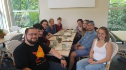 Reunion with the Marine Biodiversity course and Ines, Rafal and Jakub