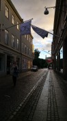 Claudi in the streets of Gothenburg