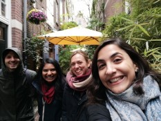 Arnaud, Kirsten, me and Razan on the food tour