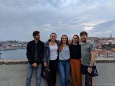 Porto with Carlos (another flatmate of mine), Carlotta, Lena and Will