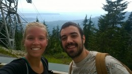 Hiking the Grouse Mountain - one hour upstairs! Nice workout :)