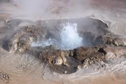 Geysir mit knapp 85 °C