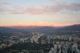 Sonnenuntergang mit Blick auf die Anden