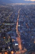 Santiago de Chile bei Nacht