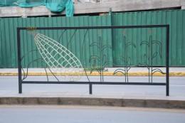 Zaun mit schönen Symbolen