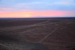 Nazca-Linien beim Sonnenuntergang