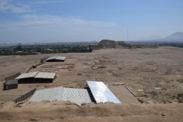 Paisaje y Huaca del Sol