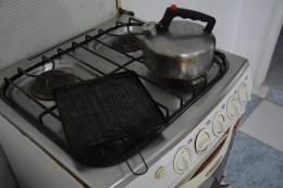 Wasserkocher und Toaster für den Gasherd