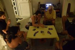 Beim Karten spielen