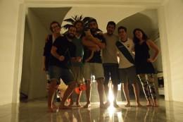 Das Hostel-Team: Yo, Martín, Alan, Fernando (con Astor, el gato), Victor, Felipe, Flor