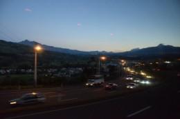 La sierra de noche