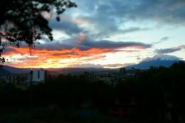 Sonnenuntergang mit dem Chimborazo