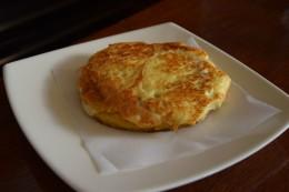 Arepa gratinado con queso