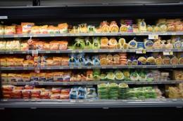 Arepas en un supermercado