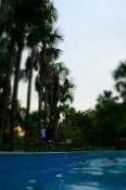 Relajar en la piscina