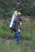 Porteador con equipaje