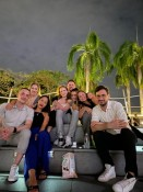 vl: Jakob, Minh, Fredi (die auch Greta heißt), Philipp, Arancha, Saskia und Nic
