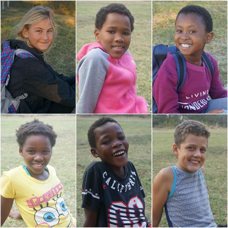 Morgan, Lihle, Alizwa, Nopinkie, Bobo und Tyler :)