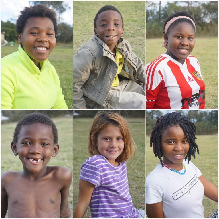 Emihle, David, Lusanda, Nathaniel, Tamicha und Asenathi :)