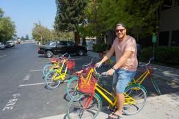 mit dem Google-Bike unterwegs