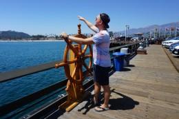 Kapitän zur See am Stearns Wharf in Santa Barbara