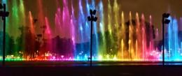 Lichter- und Wasserspiele im Circuito Mágico del Agua