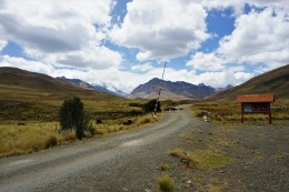 Einfahrt in den Huascarán-Nationalpark