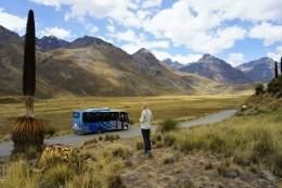 ein Teil der Gebiergskette Cordillera Blanca
