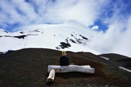 kleine Pause mit Blick auf den Vulkan Osorno