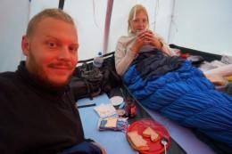 Guten Morgen Tag 3! Wie man sieht bekommt man im Zelt nicht ganz so viel Schlaf :D