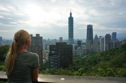 Aussicht vom Elephant Mountain mit Blick auf den Taipei101