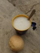 Reiswasser mit Brot